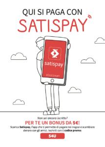 Locandina Satispay pagamento con smartphone
